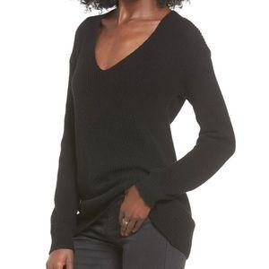 BP V-Neck Sweater-NWT-Black-XS-OVERSIZED